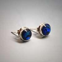 Paua Shell in Silver Earrings thumbnail