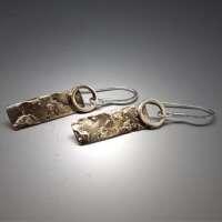 Silver Lichen Earrings thumbnail