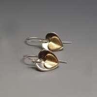 Enfolded Heart Silver Earrings thumbnail