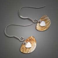 Swinging Heart Silver Earrings thumbnail