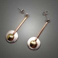 Circles and Domes Silver Earrings thumbnail