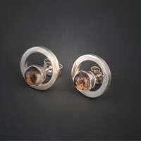Quartz in Silver Earrings thumbnail