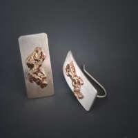 Dripped Bronze Earrings thumbnail