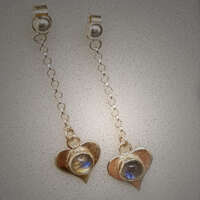 Chained Hearts Silver Earrings thumbnail
