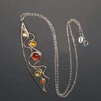 Amber Pathways Necklace thumbnail