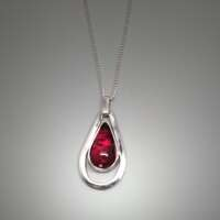 Tourmaline Teardrop Necklace thumbnail