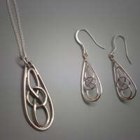 Knots in Silver Necklace thumbnail