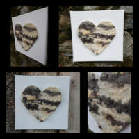 Natural Wool Heart Painting thumbnail