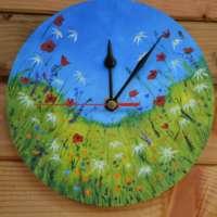Large Flowers Wall Clock thumbnail