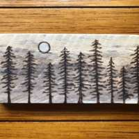 Moonlit Pine Trees - Large thumbnail