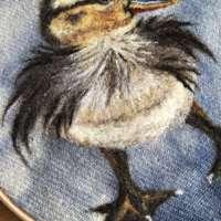 Little Duckling - Original Fibre Art thumbnail