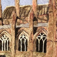 Melrose Abbey - Original Fibre Art thumbnail