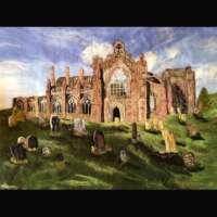 Melrose Abbey - Original Fibre Art thumbnail