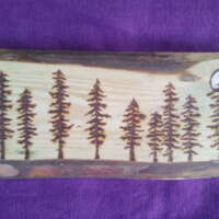 Nine Moonlit Pine Trees thumbnail