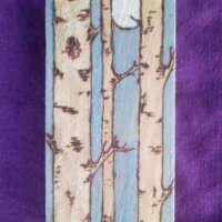 Rectangular Moonlit Birch Trees - Long Thin thumbnail