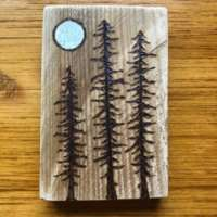 Moonlit Pine Trees - Small thumbnail