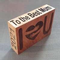 Personalised Mother's Day Wood Keepsake thumbnail