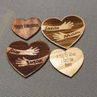 Personalised Wood Pocket Hugs thumbnail
