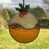 Christmas Pudding Suncatcher thumbnail