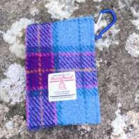 Blue and Purple Check Hand Sanitiser Pouch thumbnail