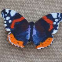 Red Admiral Butterfly Brooch thumbnail