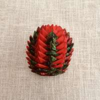 Red and Green Christmas Cone Decoration thumbnail