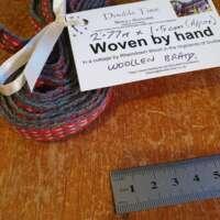 Handwoven Red Wool Braid thumbnail