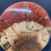 Resin and Wood Clock thumbnail