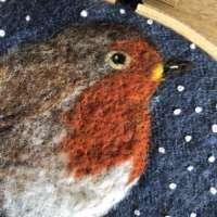 Robin - Original Fibre Art thumbnail
