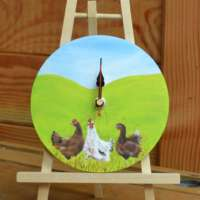 Round Chicken Wall Clock thumbnail