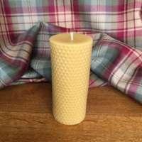 Celtic Beeswax Round Honeycomb Pillar Candle thumbnail