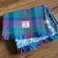 Handwoven Harris Tweed Check Scarf thumbnail