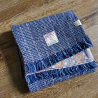 Handwoven Harris Tweed Blue Scarf thumbnail