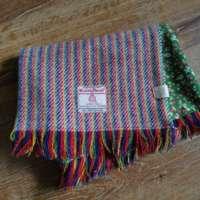 Handwoven Harris Tweed Rainbow Scarf thumbnail