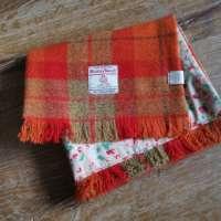 Handwoven Harris Tweed Orange Scarf thumbnail