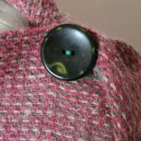 Handwoven Harris Tweed Pink Shawl thumbnail