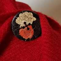 Handwoven Harris Tweed Red Shawl thumbnail