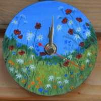 Small Flowers Wall Clock thumbnail