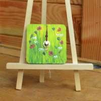 Poppies and Daisies Wall Clock thumbnail