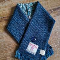 Handwoven Harris Tweed Dark Blue Neckwarmer thumbnail