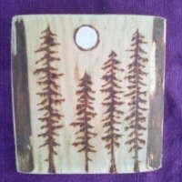 Moonlit Pine Trees Square thumbnail