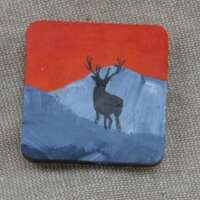 Stag Against Mountain thumbnail