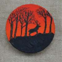 Stag and Trees Brooch thumbnail