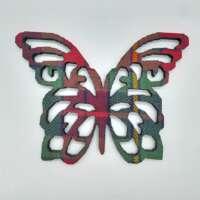 Tartan Wooden Butterfly Coaster thumbnail