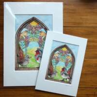 The Wedding of the Robin and the Wren Mounted Print thumbnail