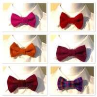 Harris Tweed Bow Tie Clip thumbnail