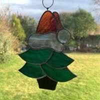 Dark Green Christmas Tree Suncatcher thumbnail