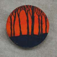 Trees at Sunset Brooch thumbnail