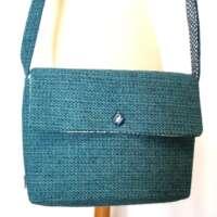 Harris Tweed Blue Shoulder Bag thumbnail