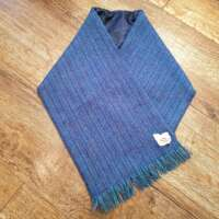 Handwoven Harris Tweed Plain Blue Neckwarmer thumbnail
